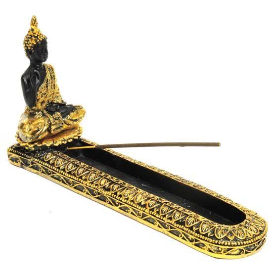Gold Buddha Resin Incense Burner 5