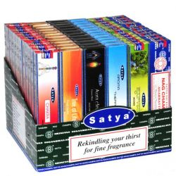 Satya Nag Champa Ayurveda Display - 72 Boxes of 15g
