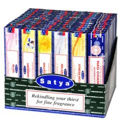 Satya Nag Champa Yoga Display - 72 Boxes of 15g