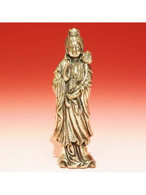 White Metal Standing Quan Yin 3.5