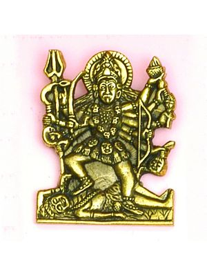Small Antique Brass Pendant of  Kali