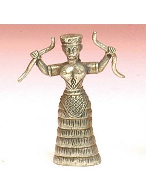 Mini Metal Snake Goddess
