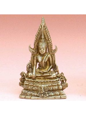 Mini Metal Small Chinraj Buddha