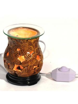 Brown Floral Electric Aroma Lamp