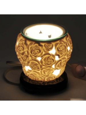 White Roses Electric Aroma Lamp