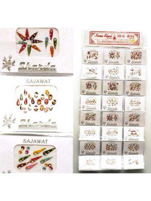 Jeweled Bindi Body Decor Pack of 24
