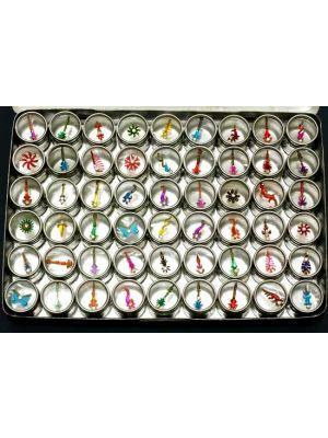 Jeweled Bindi Body Decor Set of 54 Tins