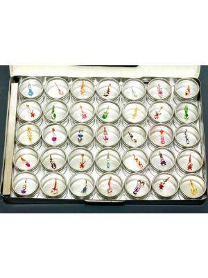 Jeweled Bindi Body Decor Set of 35