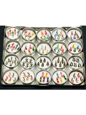 Jeweled Bindi Body Decor Set of 20