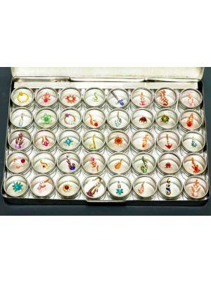 Jeweled Bindi Body Decor Set of 40