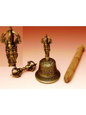 Tibetan Bell With Dorje Small