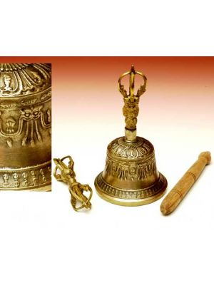 Tibetan Bell With Dorje Large