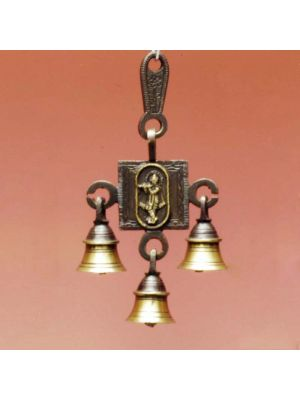 Brass Door Bell Antique Krishna
