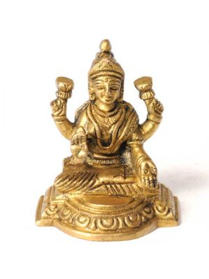 Brass Sitting Laxmi 3
