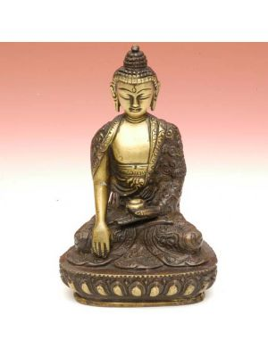Brass Antique Buddha Fine 5.5