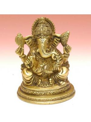 Brass Ganesha Sitting 4