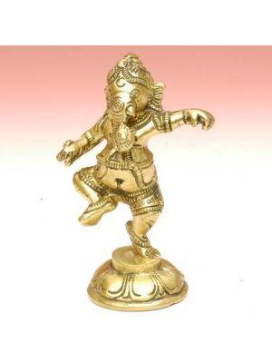 Brass Ganesha Dancing 3