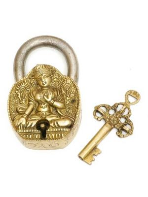 Brass Art Lock W/Key Tara 4.5