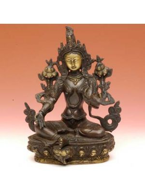 Brass Green Tara Antique 9
