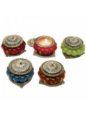 Antique Metal & Glass Scented Candles (5 scents)