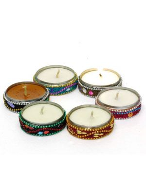 Beaded Scented Candles Set/6