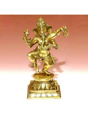 Brass Ganesha Dancing 12