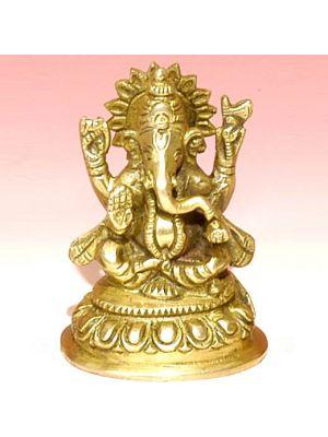 Brass Ganesha 3.75