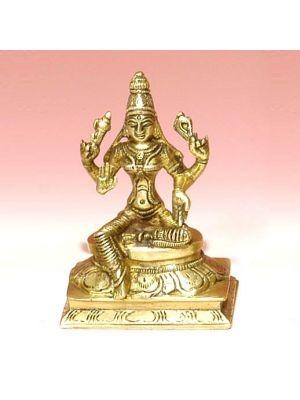 Brass Figure Laxmi Sitting 4