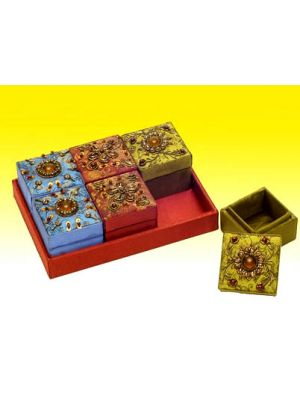 Embellished Box In Tray Set/6