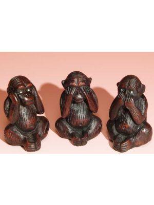 Incense Burner Resin 3 Monkeys 2.5