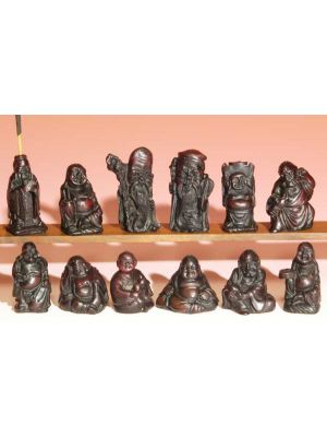 Incense Burner Resin Buddha Set/12