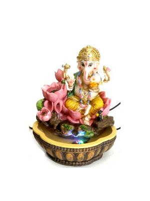 Polyresin Ganesha Fountain 8.5