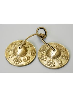 Brass Cymbals W/Script Mantra Large
