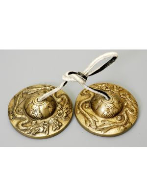 Brass Tibetan Cymbals Dragon