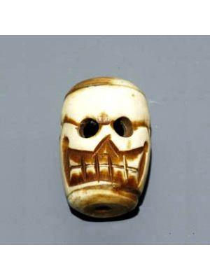 Bone Single Skull Beads 1.2