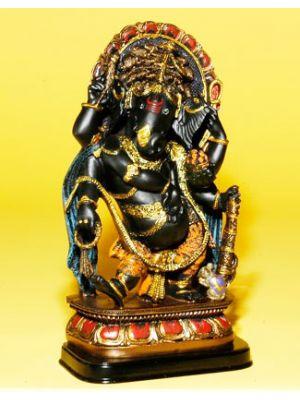 Polyresin Black Ganesha Dancing.12