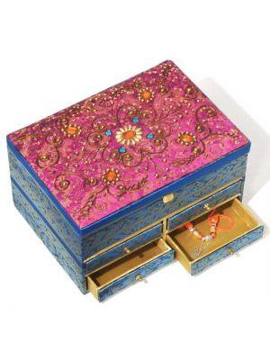 Embroidered Fabric Jewelry Box 10