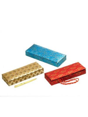 Jacquard Pencil Box.Set/3 8X3