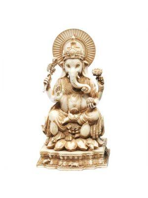 Handmade Antique Ivory Resin Ganesha 6