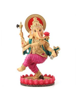 Hand Painted Dancing Resin Ganesha 8