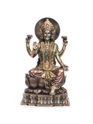 Cold Cast Bronze Laxmi Figurine 8