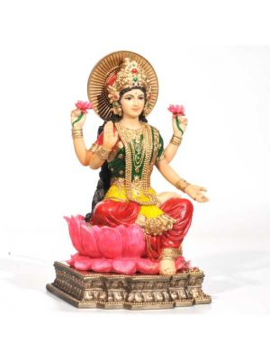 Hand Painted Laxmi Figurine 8