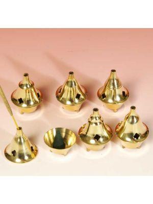 Incense Burner Brass Small 6 Pcs