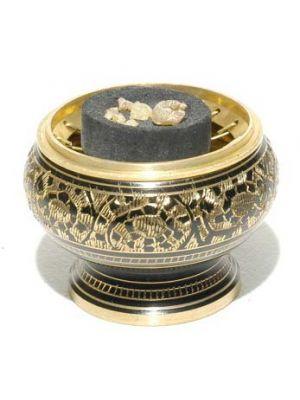 Charcoal Burner Brass Etchin.2.5