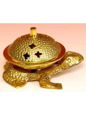 Incense Burner Brass  Frog 5