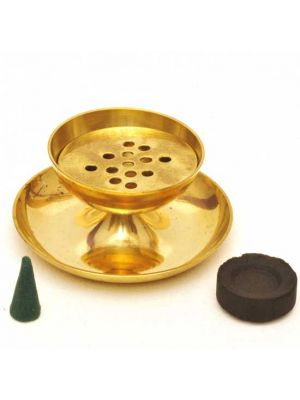 Brass Incense Cone and Charcoal/Resin Burner