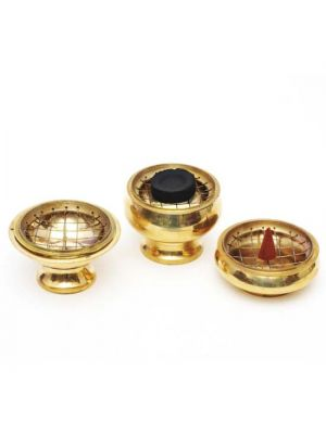 Brass Charcoal/Resin Burners Set/3 3