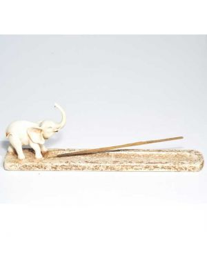 Elephant Incense Ash Catcher in Antique Ivory