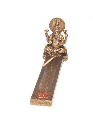 Ganesha Incense Ash Catcher - Resin & Bronze