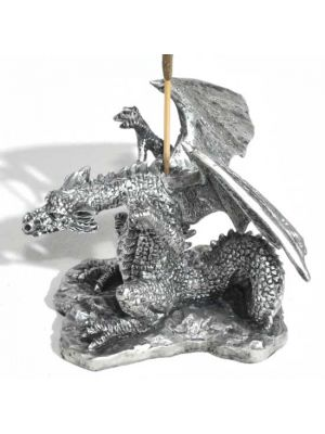 Fascinating Dragon Incense Burner in Silver Color